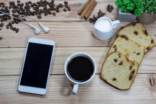 iphone and bread